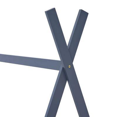 vidaXL Kinderbedframe massief grenenhout grijs 90x200 cm