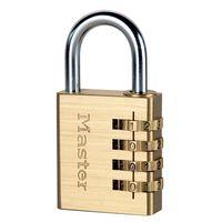 Master Lock Combinatiehangslot geel 40 mm aluminium 604EURD