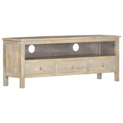 vidaXL Tv-meubel 120x30x45 cm massief mangohout grijs