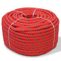 vidaXL Boot touw 18 mm 50 m polypropyleen rood