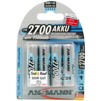 Ansmann Oplaadbare batterijen NiMH 2700 mAh 4 st 5030842