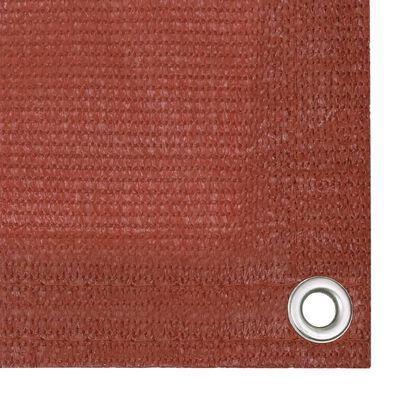 vidaXL Balkonscherm 75x300 cm HDPE terracottakleurig