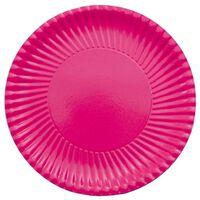 10x Grote kartonnen bordjes fuchsia roze 29 cm