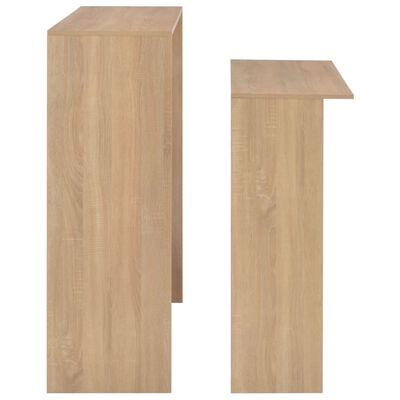 vidaXL Bartafel met 2 tafelbladen 130x40x120 cm eikenkleurig