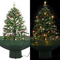 vidaXL Kerstboom sneeuwend met paraplubasis 75 cm groen