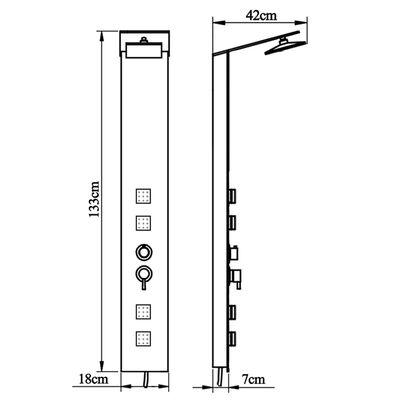 vidaXL Douche paneelsysteem glas bruin