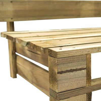 vidaXL Tuinbank met zandkleurige kussens pallet grenenhout