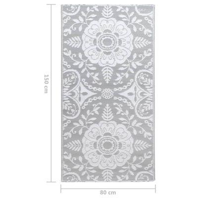 vidaXL Buitenkleed 80x150 cm PP lichtgrijs