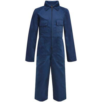 vidaXL Kinderoverall met mouwen maat 122/128 blauw