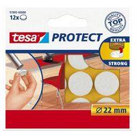 48x Tesa meubelvilt rond wit 2,2 cm - Klusbenodigdheden - Huishouding