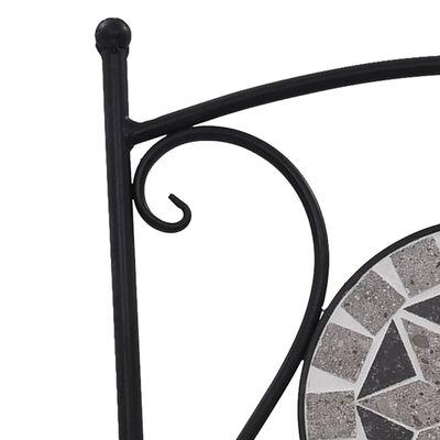 vidaXL 3-delige Bistroset mozaïek keramische tegel grijs