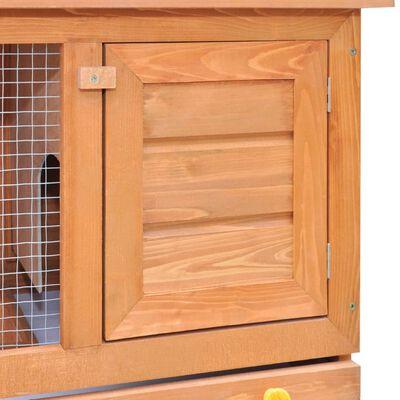 vidaXL Konijnenhok voor buiten met 1 deur hout