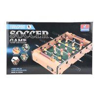tafelvoetbalspel 35 cm hout bruin