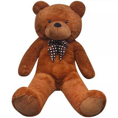 vidaXL Teddybeer XXL 85 cm zacht pluche bruin