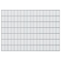 vidaXL Dubbelstaafmatten 2,008x1,43 m 14 m (totale lengte) grijs