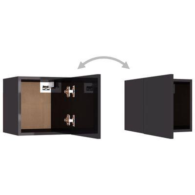 vidaXL Tv-wandmeubelen 2 st 30,5x30x30 cm hoogglans grijs
