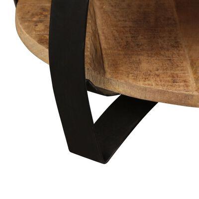 vidaXL Salontafel 65x32 cm massief ruw mangohout