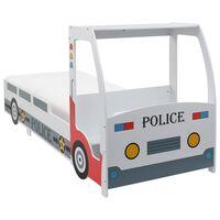 vidaXL Kinderbed politieauto met traagschuim matras 90x200 cm