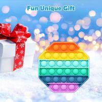 Pop It Fidget-speelgoed Achthoekige Regenboogkleuren