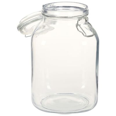vidaXL Potten met sluiting 12 st 3 L glas