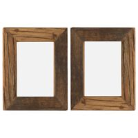 vidaXL Fotolijsten 2 st 25x30 cm massief gerecycled hout en glas