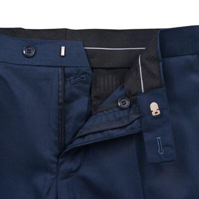 vidaXL Tweedelig kostuum/smoking voor mannen marineblauw maat 46