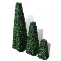 vidaXL 3-delige Kunstbuxussenset piramidevormig
