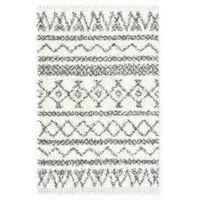 vidaXL Tapijt Berber shaggy hoogpolig 160x230 cm PP beige en grijs