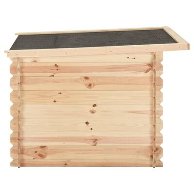 vidaXL Hondenhok 120x100x80 cm 14 mm massief grenenhout