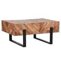 "LABEL51 Coffee Table ""Float"" 90x60x40 cm Wood/Black"