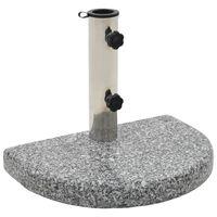 vidaXL Parasolvoet gebogen 10 kg graniet grijs