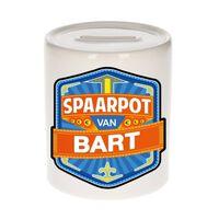 Kinder spaarpot voor Bart - keramiek - naam spaarpotten