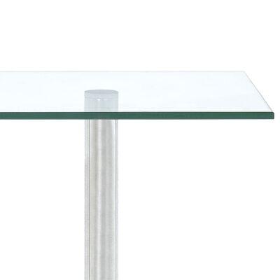 vidaXL Hoekkastje keuken 3-laags gehard glas