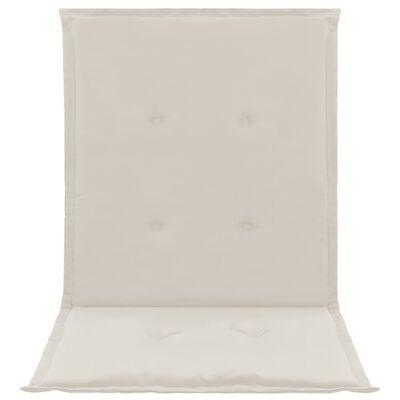 vidaXL Tuinstoelkussens 4 st 100x50x3 cm crème