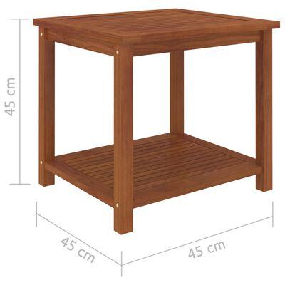 vidaXL Bijzettafel 45x45x45 cm massief acaciahout