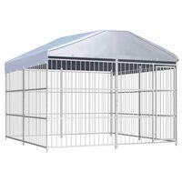 vidaXL Hondenkennel voor buiten met dak 300x300x200 cm