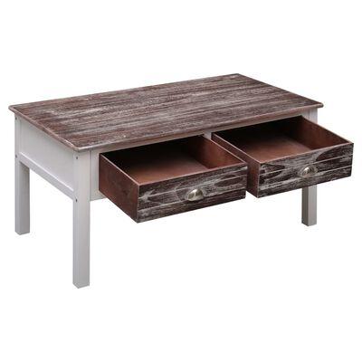 vidaXL Salontafel 100x50x45 cm hout bruin
