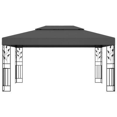 vidaXL Prieel met dubbel dak 3x4 m antraciet