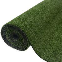 vidaXL Kunstgras 1x10 m / 7-9 mm groen