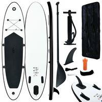 vidaXL Stand-up paddleboard opblaasbaar zwart en wit
