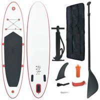 vidaXL Stand Up Paddleboardset opblaasbaar rood en wit