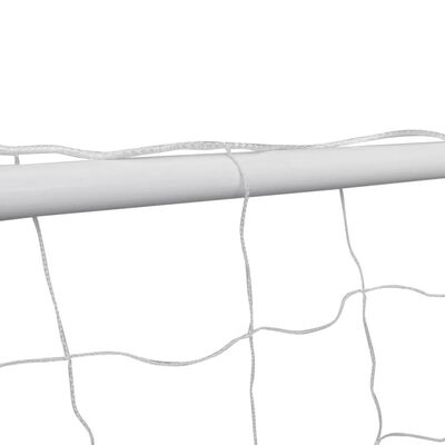 vidaXL Voetbaldoel met net 182x61x122 cm staal wit