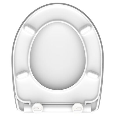 SCHÜTTE Toiletbril met soft-close WHITE WAVE duroplast wit