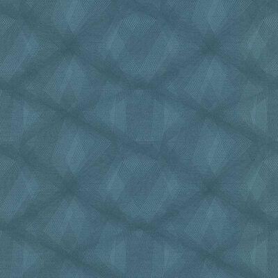 couleurs & matières Behang Diamond Lines blauw