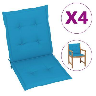 vidaXL Tuinstoelkussens 4 st 100x50x3 cm blauw