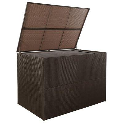 vidaXL Tuinbox 150x100x100 cm poly rattan bruin