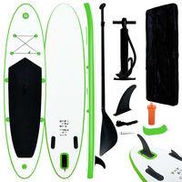 vidaXL Stand-up paddleboard opblaasbaar groen en wit
