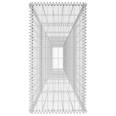 vidaXL Schanskorfmuur met deksel 600x50x100 cm gegalvaniseerd staal