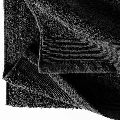 vidaXL 12-delige Doekenset 450 g/m² katoen zwart