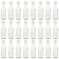 vidaXL Flessen met beugelsluiting 24 st 1 L glas